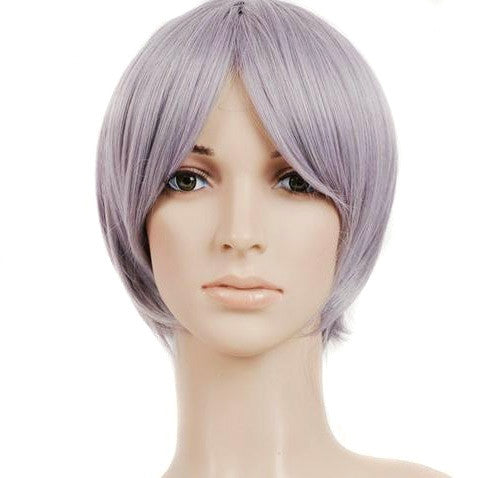 Silver Grey Short Length Anime Cosplay Costume Wig