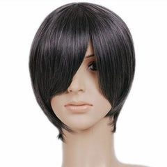 Ash Black Short Length Anime Cosplay Costume Wig