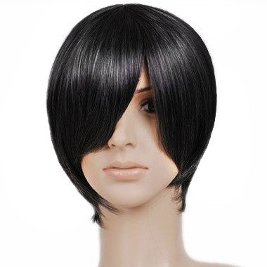 Black Short Length Anime Cosplay Costume Wig