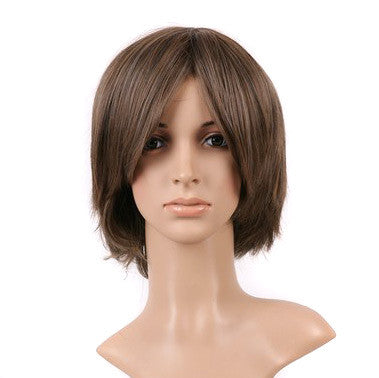 Brown Short Shoulder Length Anime Cosplay Costume Wig