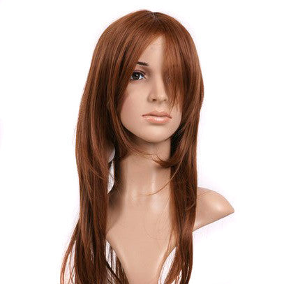 Brown Medium Length Anime Cosplay Costume Wig