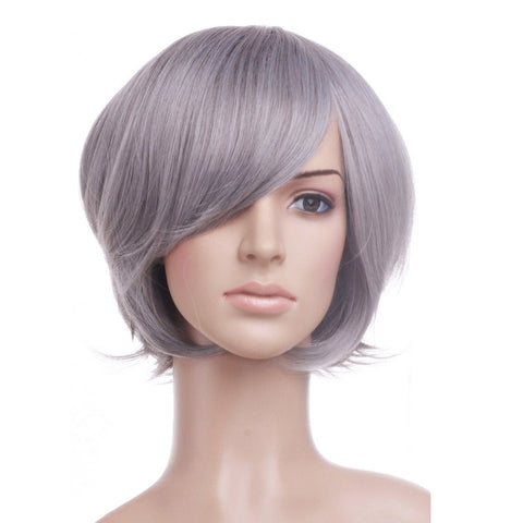 Silver Anime Cosplay Costume Wig