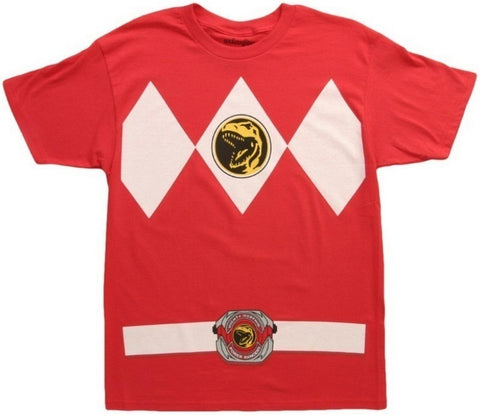 Mighty Morphin Power Rangers Red Ranger Mens T-Shirt | XXL