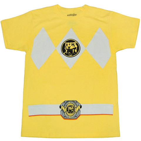 Mighty Morphin Power Rangers Yellow Ranger Mens T-Shirt | XXL