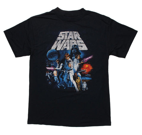 Star Wars Full Cast Mens Black T-Shirt | XXL