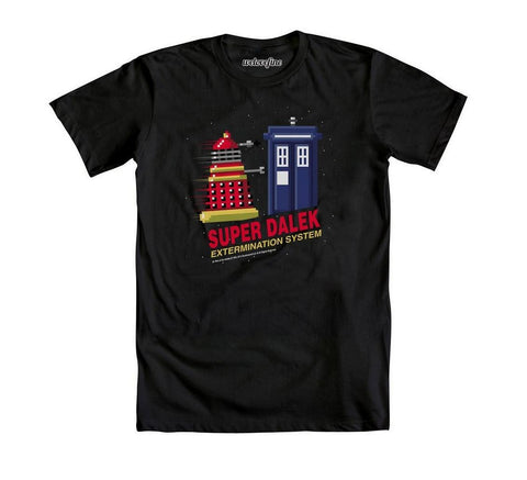 Doctor Who Super Dalek Extermination System Mens Black T-Shirt | XXL