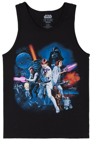Star Wars Full Cast Black Tank Top Shirt | XL