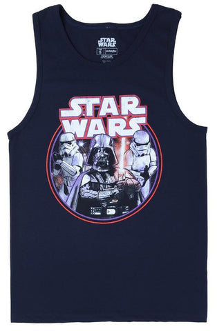 Star Wars Retro Lord Vader Mens Black Tank Top Shirt | XL
