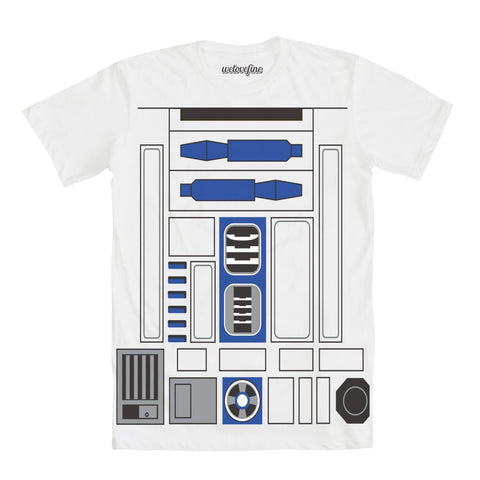 Star Wars I Am R2-D2 Mens White Flip T-Shirt | L
