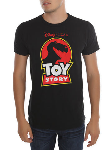 Disney Pixar Toy Story Rex Logo Mens Black T-Shirt | XXL