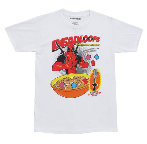 Marvel Deadpool Deadloops Mens White T-Shirt | XXL