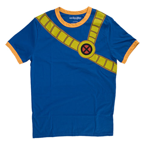 Marvel X-Men I Am Retro Cyclops Mens Blue T-Shirt | L