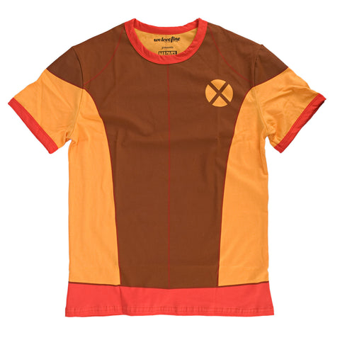 Marvel X-Men I Am Retro Wolverine Mens Brown Shirt | L