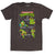 Teenage Mutant Ninja Turtles Sewer Crew Mens Heather Black T-Shirt | XXL