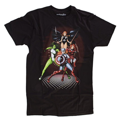 Marvel Maidens Mens Lightweight Black T-Shirt | XXL