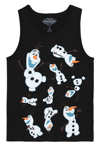 Disney Frozen Olaf Clones Mens Black Tank Top T-Shirt | XXL