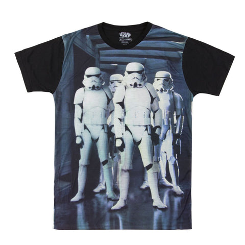 Star Wars Four Troopers Mens Black T-Shirt | M