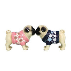 Argyle Sweaters Pugs Salt & Pepper Shakers