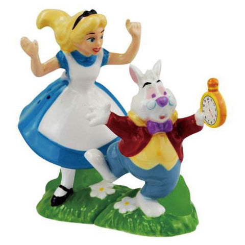 Alice And White Rabbit Salt & Pepper Shakers