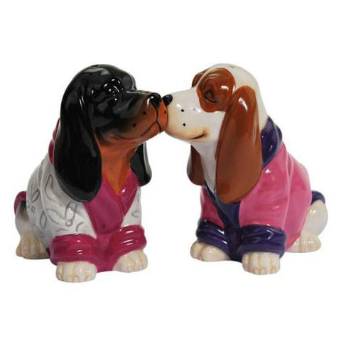 Basset Hound Robes Salt & Pepper Shakers