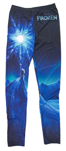 Disney Frozen Elsa Snow Queen Girls Leggings | S