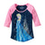 Disney Frozen Elsa Sparkle Castle Juniors 3/4 Sleeve T-Shirt | L