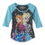 Disney Frozen Elsa and Anna Snowfall Juniors 3/4 Sleeve T-Shirt | S
