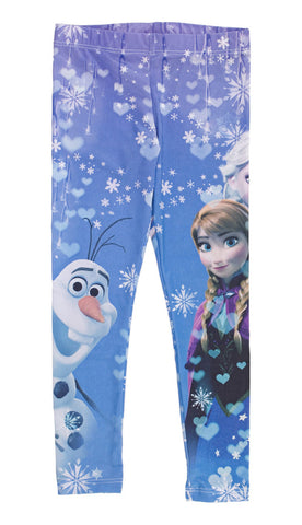 Disney Frozen Icy Hearts Girls Leggings | 8