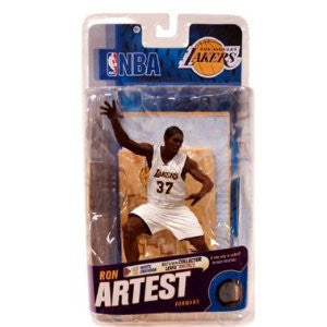McFarlane Toys NBA Sports Picks Series 18 Action Figure Ron Artest (Los Angeles Lakers) White Jersey Bronze Collector Level Chase