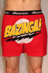 Big Bang Theory Bazinga Red Boxer Shorts | L