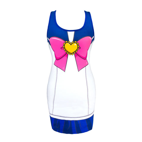 Sailor Moon I Am Sailor Moon Costume Tank Dress | M
