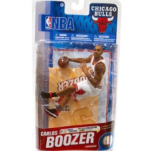 NBA Series 19 Carlos Boozer - Chicago Bulls White Jersey Silver Variant Action Figure