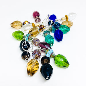 Czech glass earrings double facet all colors