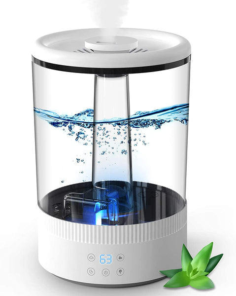 AUZKIN Cool Mist Humidifier,4.5L Ultrasonic Humidifiers for Bedroom,Quiet Whisper Operation with 3 Mist Level Adjustable,8H Timer and Night Light for Kids