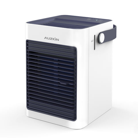 AUZKIN Air Cooler, Mini Portable Air Conditioner Fan Noiseless Evaporative Air Humidifier, Personal Space Air Conditioner, Mini Cooler, Office Cooler Humidifier & Purifier