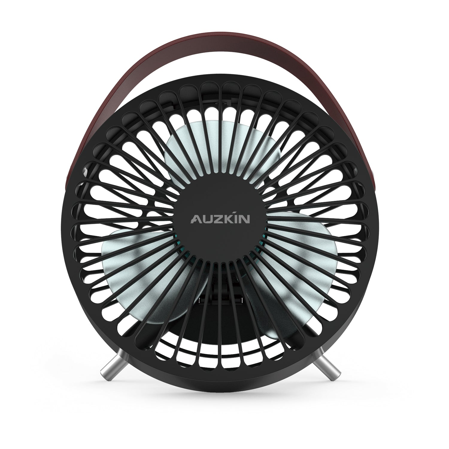 AUZKIN Small Personal USB Desk Fan,Portable Desktop Table Cooling Fan Powered by USB,Strong Wind,Quiet Operation,for Home Office Car Outdoor Travel
