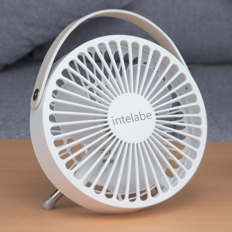 INTELABE Desk Fan Small Table Fan with Strong Airflow