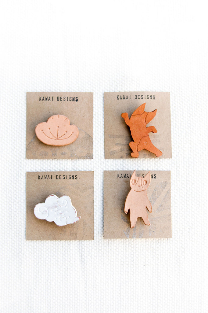 Leather Handmade Pins
