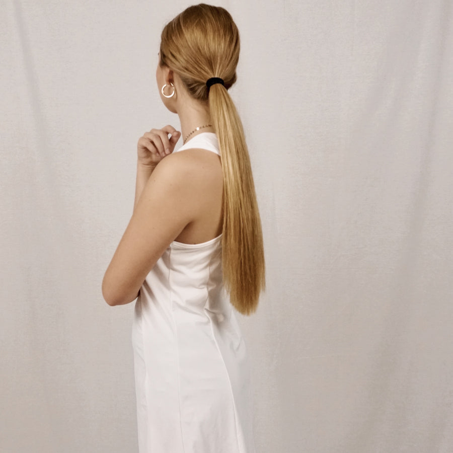 white hyeres dress