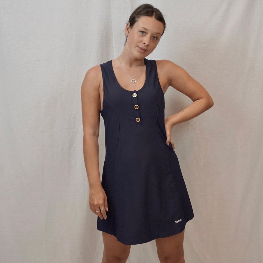 navy hyeres dress