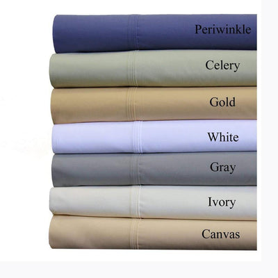 100% Cotton 4PC Solid Sheet Set