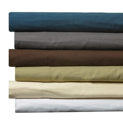 100-Percent Egyptian Cotton Flannel 4-Piece Bed Sheet Set