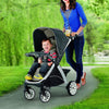 Lightweight Stroller With Auto-Positioning Wheels