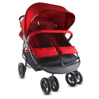 One-hand Fold Double Stroller,Black