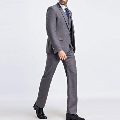 Plaids Formal Three Pieces Slim Blazers