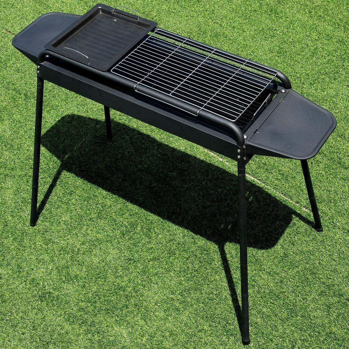 Outdoor Height Adjustable Barbecue Charcoal Grill