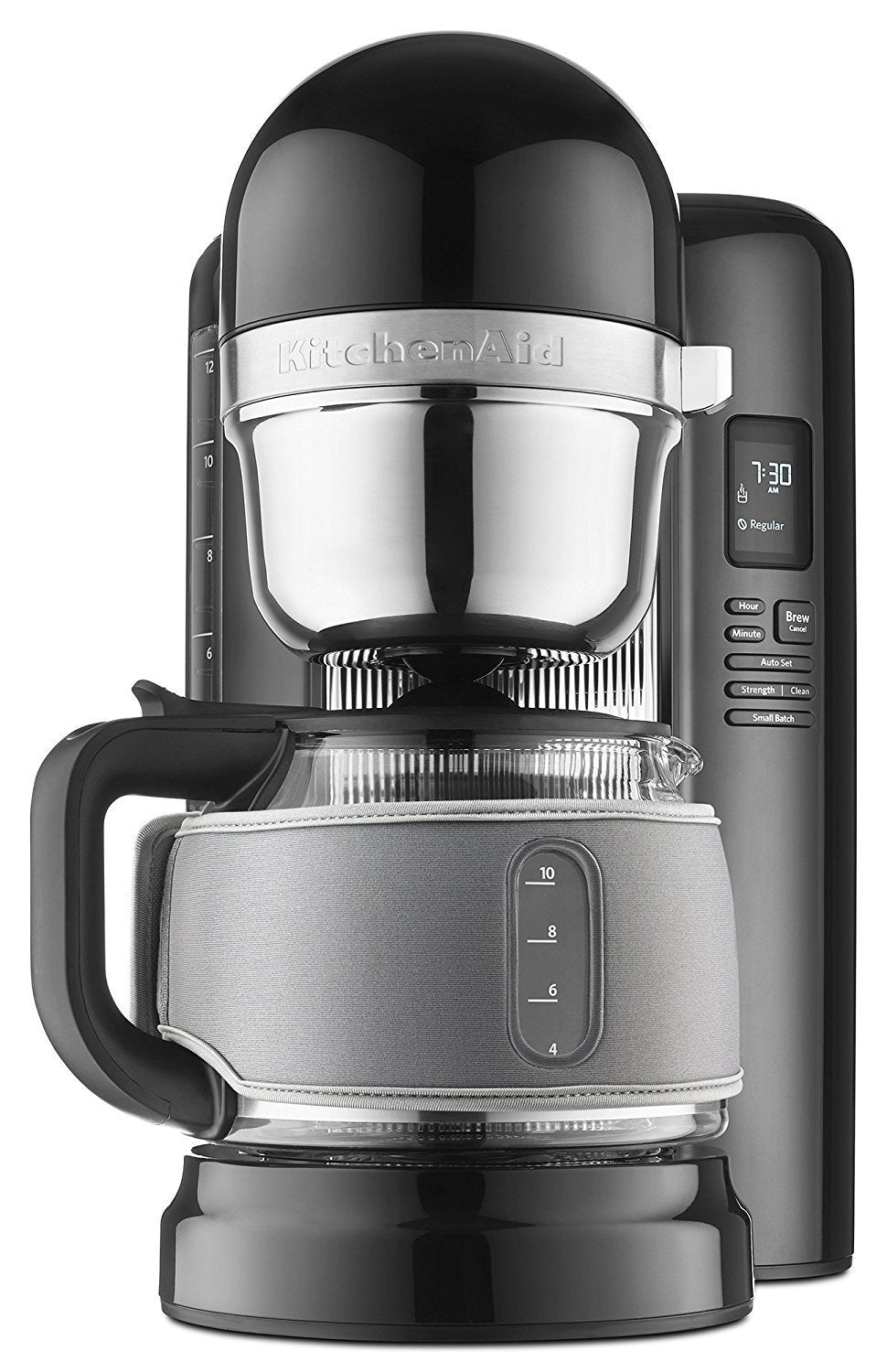 KitchenAid KCMB1204GOB 12-Cup Coffee Maker with One Touch Brewing with Grey  Thermal Sleeve - Onyx Black