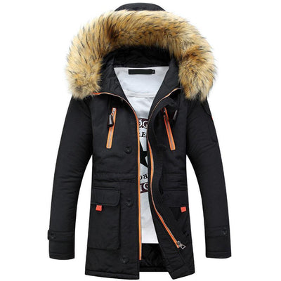 Thicken Hooded Pockets Winter Cotton Warm Coats