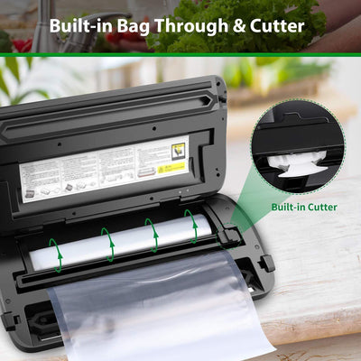 Automatic Food Vacuum Sealer with Roll &Bags Kit