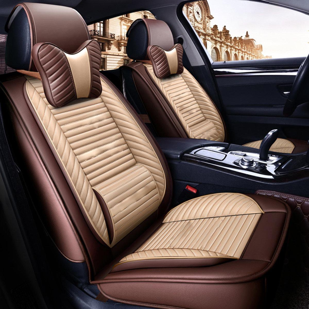Pleasing Pu Leather Car And Back Seat Cover Theyellowbook Wood Chair Design Ideas Theyellowbookinfo